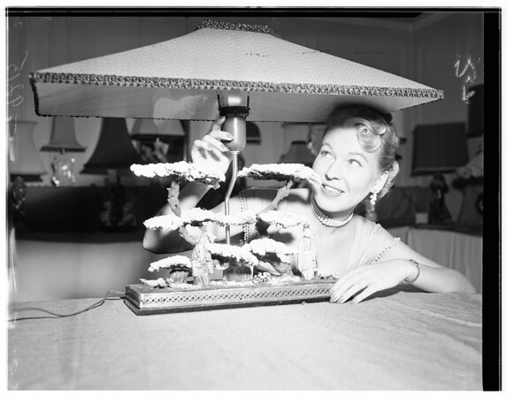 California Lamp -- Picture -- Curtain and Drapery Show, 1951