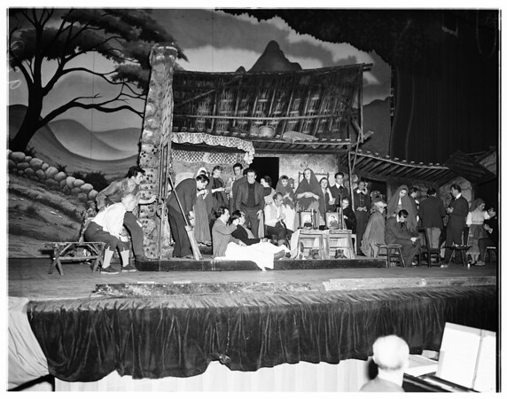 """Play """"Three Wishes for Jamie"""" (rehearsal), 1951"""