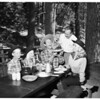 Arthur Lake and family at Crestline, 1951