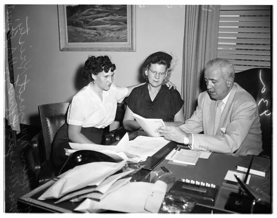 Hensen murder story, 1951