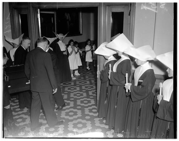 Funeral of Sister Enphemia Walsh, 1951