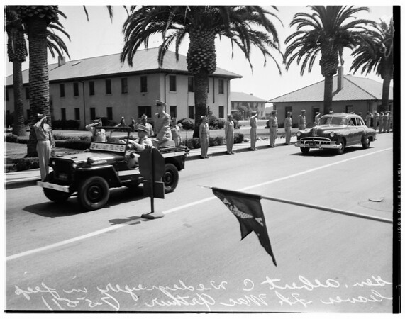 Leaves Fort MacArthur on last official visit, 1951