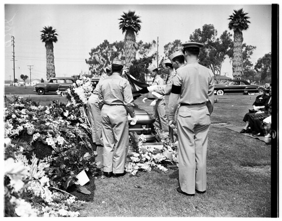 Soldier funeral (killed in Korea) James H. Clark, 1951
