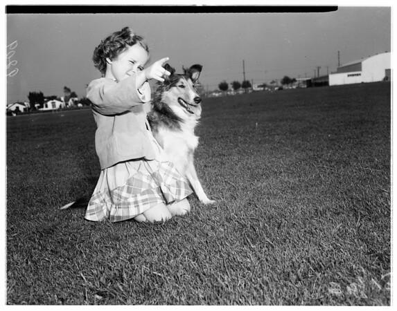 Lynwood dog obedience class, 1951