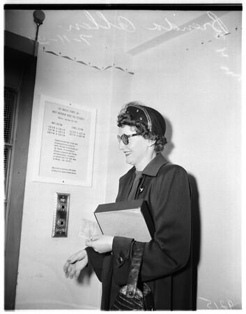 Brenda Allen released on probation, 1951