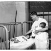 Malnourished twins at General Hospital, 1951