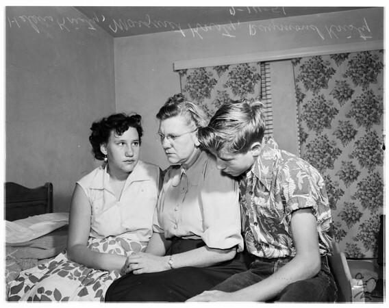 Betty Jean Hansen's family, 1951