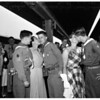Scouts leave for jamboree, 1951