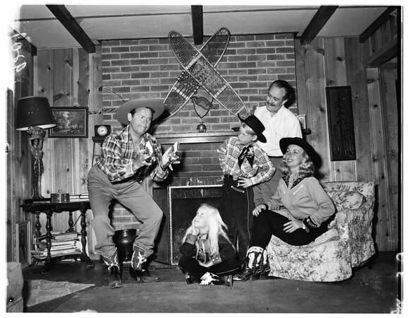 Arthur Lake and family at Crestline, 1951