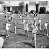 Baton twirlers at Pepperdine College, 1951