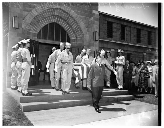 Soldier funeral (Private First Class Howard H. Gutzmann), 1951