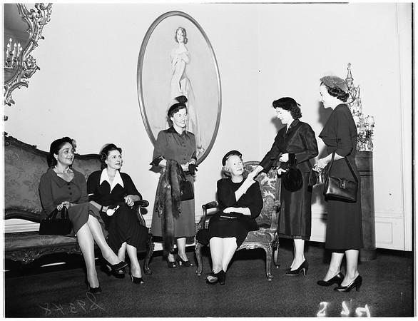 Social Service Auxiliary Meeting...California Club, 1951