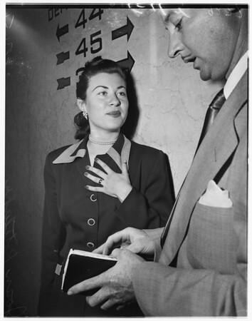 Burglar suspect trial, 1951
