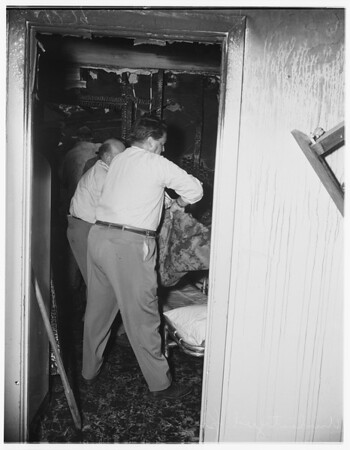 Plane crash and fire...West El Monte, 1951