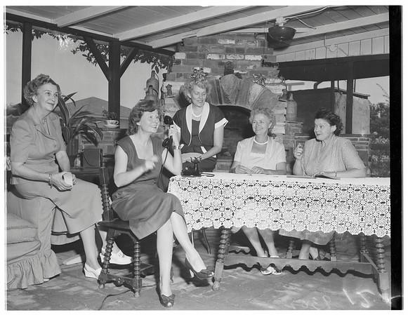 Society...Club Activity...Patio Improvement Committee, Mrs. Joseph L. Fainer, 9220 East Live Oak Avenue, Temple City, 1951.