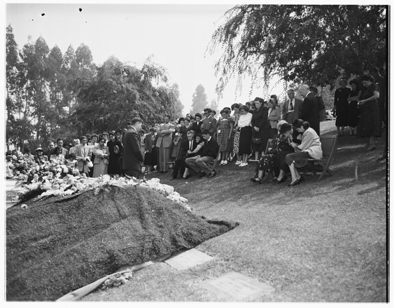 Bice funeral at church, 1951