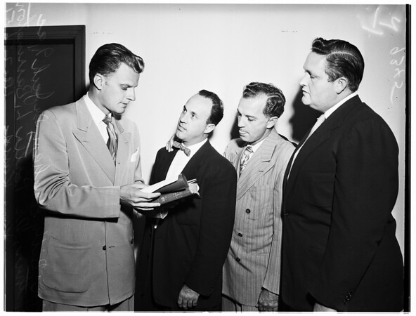 Billy Graham breakfast (Alexandria Hotel), 1951.