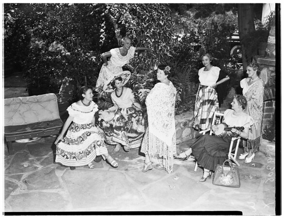 Society (Flintridge Guild Fiesta at home of Elmer J. Frame, 4379 Chevy Chase Drive), 1951