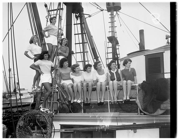 """""""Skipperettes"""" for Fishermen's Fiesta (San Pedro), 1951"""