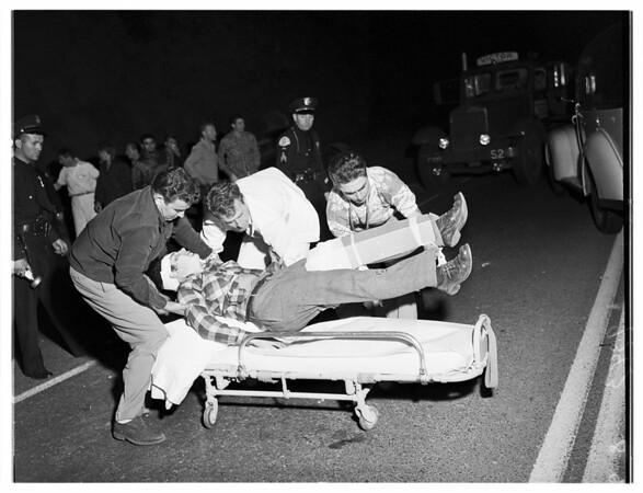 Traffic...Sepulveda Boulevard two miles North of Sunset Boulevard, 1951