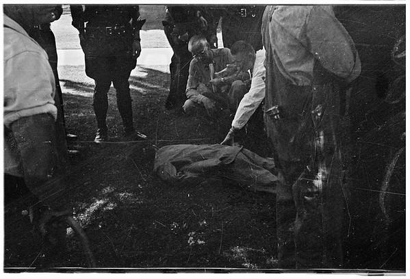 Shooting near Veterans Hospital (Sawtelle) two persons killed, 1946..