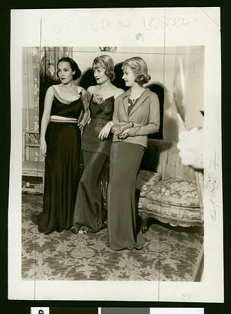 Dolores Del Rio, Constance Bennett and Joan Bennett, 1934