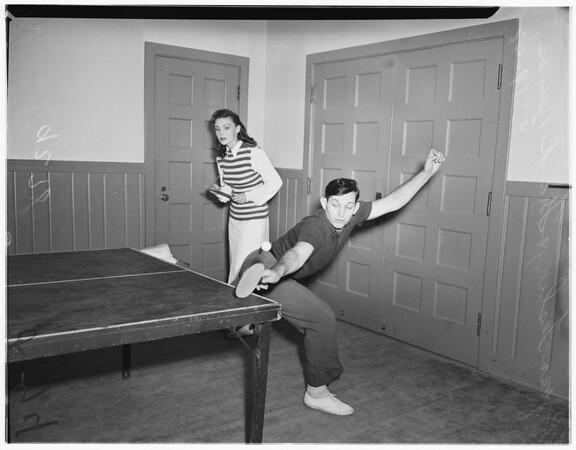 Poinsettia playground ping-pong, 1948