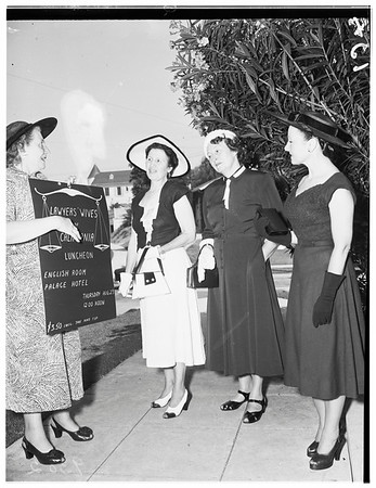Society...Club Activity...Lawyers' wives, South Plymouth, 1951.