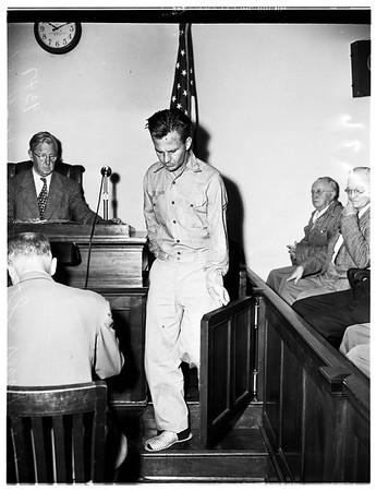 Lake inquest...boy found body of dead woman, 1951.