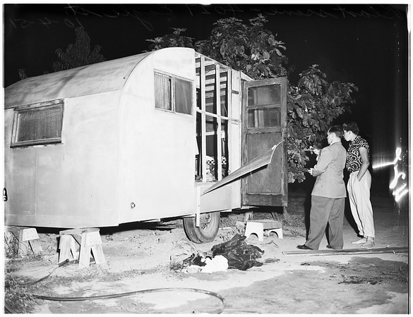 Trailer blast victims at Holy Cross Hospital, 1951