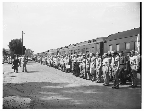 Marines arrive at San Diego Base (from Korea), 1951