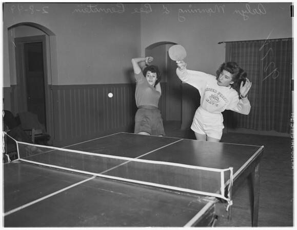 Poinsettia table tennis club, 1949