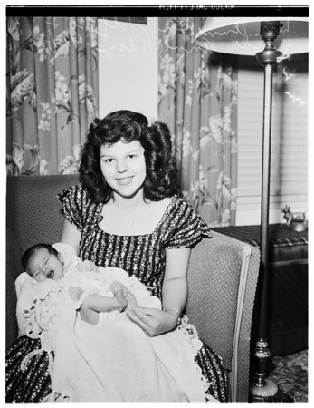 Serviceman's baby, 1951