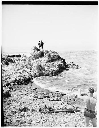 Fisherman drowns...Palos Verdes, 1951