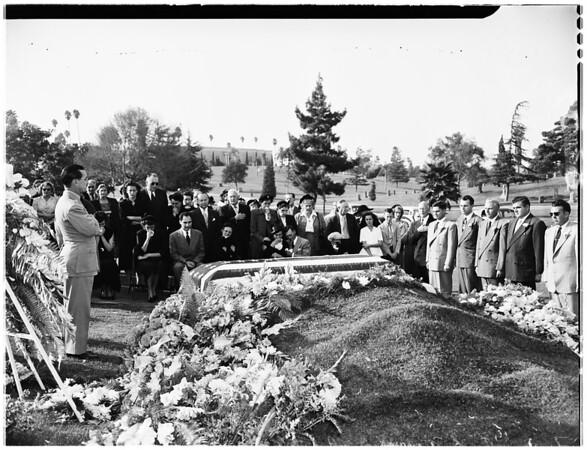 Dollar Bill funeral (Inglewood), 1951