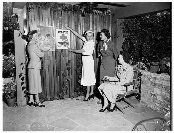 Assistance League Women...Blood Bank Program, 1951