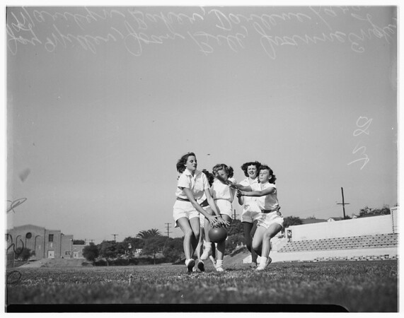 El Segundo girls physical education, 1948