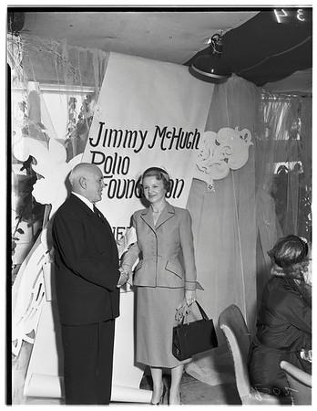 Society...Jimmy McHugh Polio Fund, 1951.
