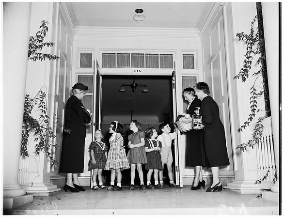 Los Angeles Orphans' Food Shower, 1951