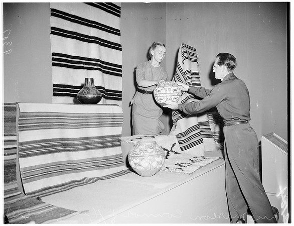 Indian Hall at County Museum, 1951