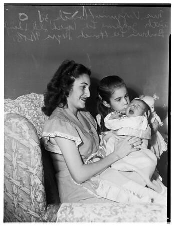 Navy baby, Pasadena, 1951