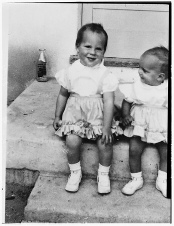 Little girl dies after fall..., 1951