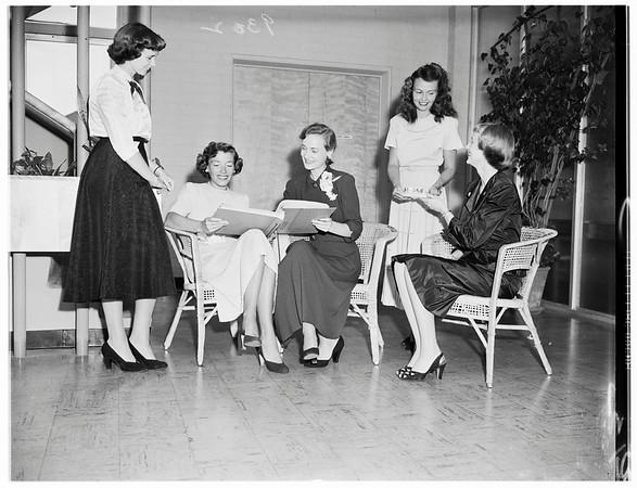 Society...Trojan Junior Auxiliary Membership Tea, 1951