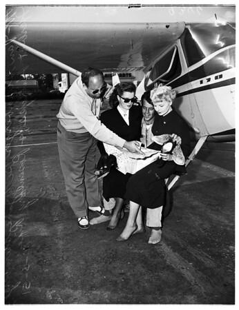 Lost plane returns, 1951.