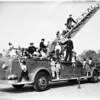 Fire Prevention Week (Demonstration of Los Angeles County Fire Department, Laurel Grade School, 925 North Hayworth Avenue), 1951