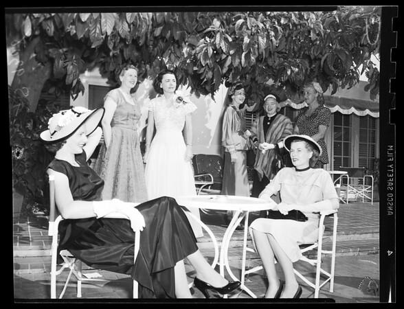 Society (League for Crippled Children tea), 1951