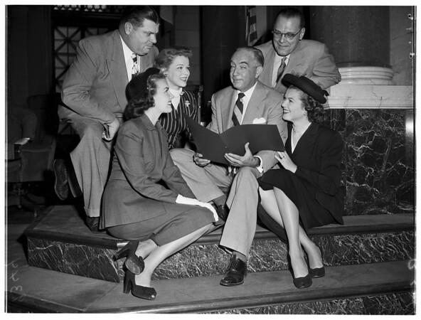 """""""Movietime USA"""" celebration at City Council, 1951"""