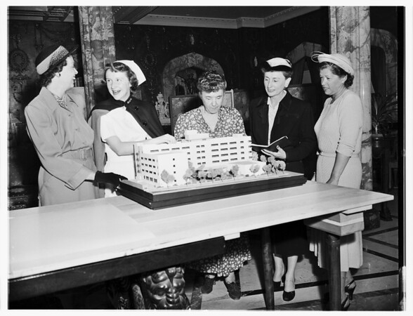 Society...Saint Vincent's Hospital Auxiliary Party, 1951