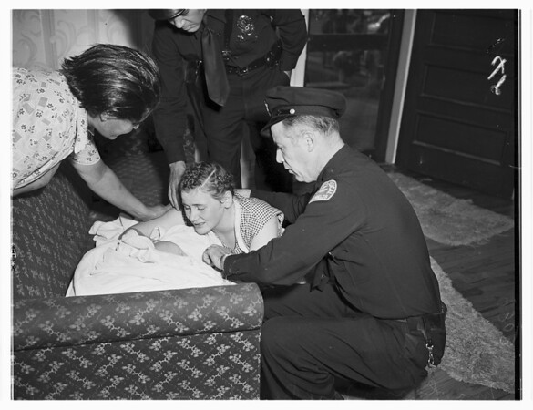 Baby drowning (316 West Fifty-Second Street), 1951