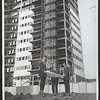 Barrington Plaza luxury apartments under construction, Los Angeles, 1961